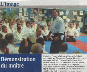 Article Charente Libre du 20 10 14 2