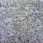 W-Plaque commémorative du discours de Marthin Luther King